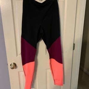 High rise full length tri-tone workout leggings